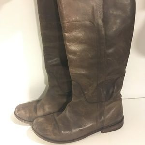 Frye Paige Riding Boot in chocolate brown 8.5